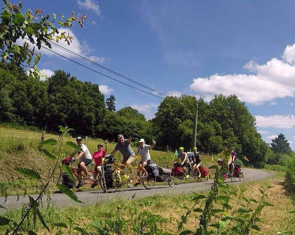 Touring with fellow tandem riders