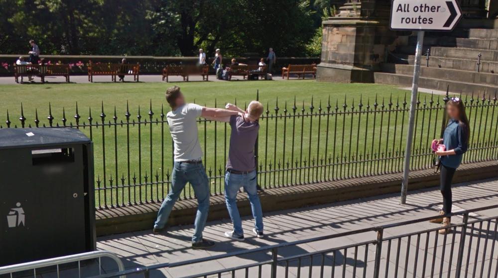 Street scuffle in Scotland