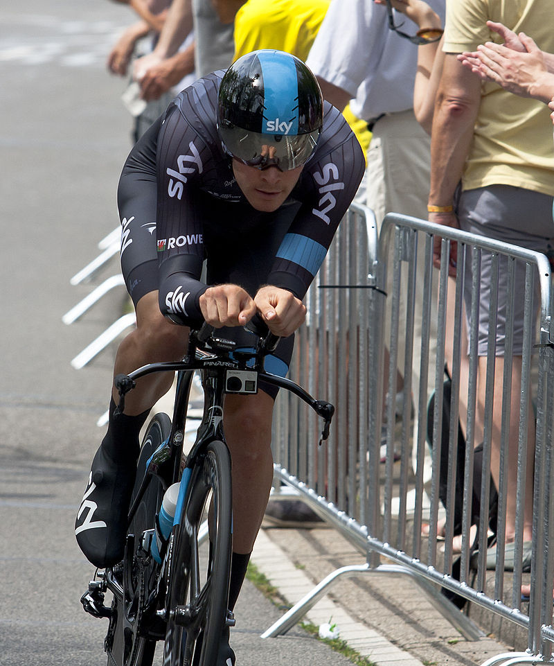 Luke Rowe on Team Sky time trial bike
