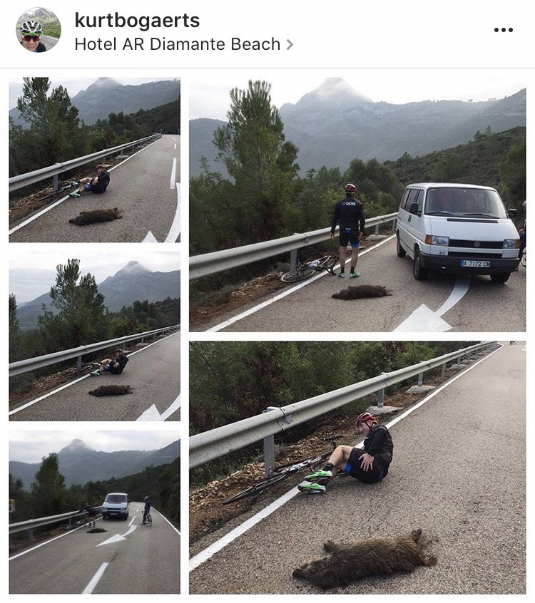 Sean Kelly takes on the local wildlife in Spain - and wins!