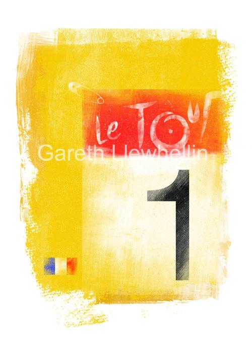 Tour de France Yellow Jersey Limited Edition Giclee Print - Shop ... 0f6dc8e76