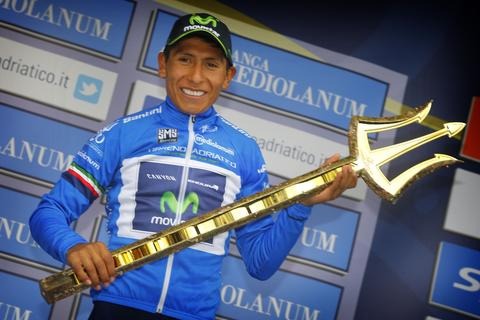 Nairo Quintana, winner of the Sea Master Trophy in 2015