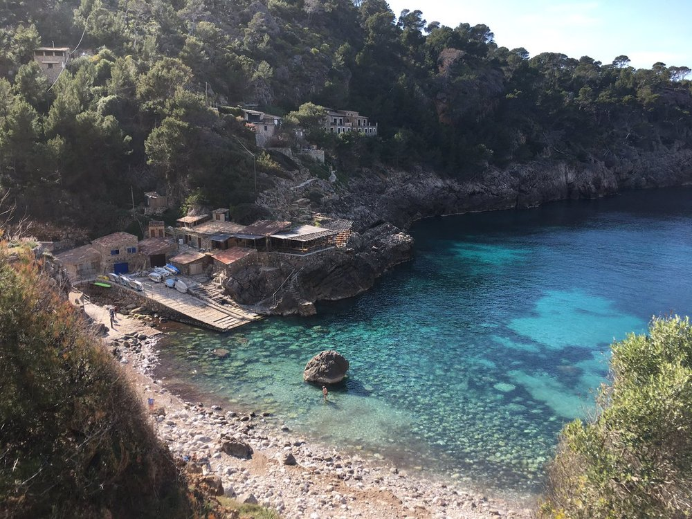 Cala Deia's beautiful turquoise waters