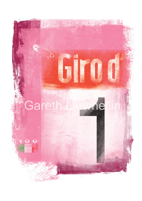 Gareth Llewhellin's limited edition, signed prints mark the 100th Giro d'Italia (available form the Ride Velo shop for £30)