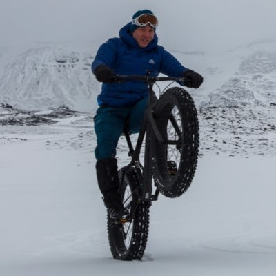 Sir Chris Hoy on a Fat Bike in Iceland earlier this year