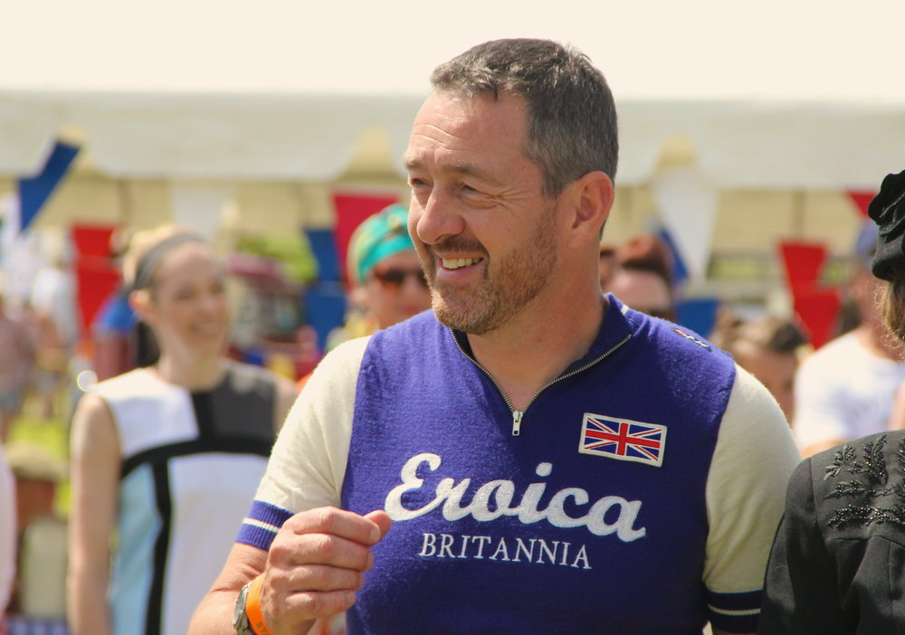 Chris Boardman realises someone's snatched his pint