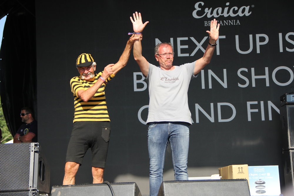 Luciano Berruti (face of Eroica) with Eroica founder Giancarlo Brocci