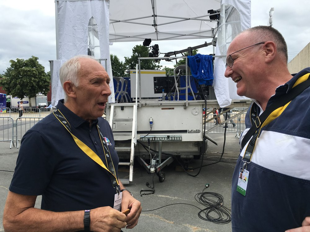 Carlton catches up with Phil Liggett