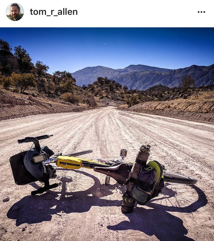 Tom Allen bikepacking in southern Iran recently