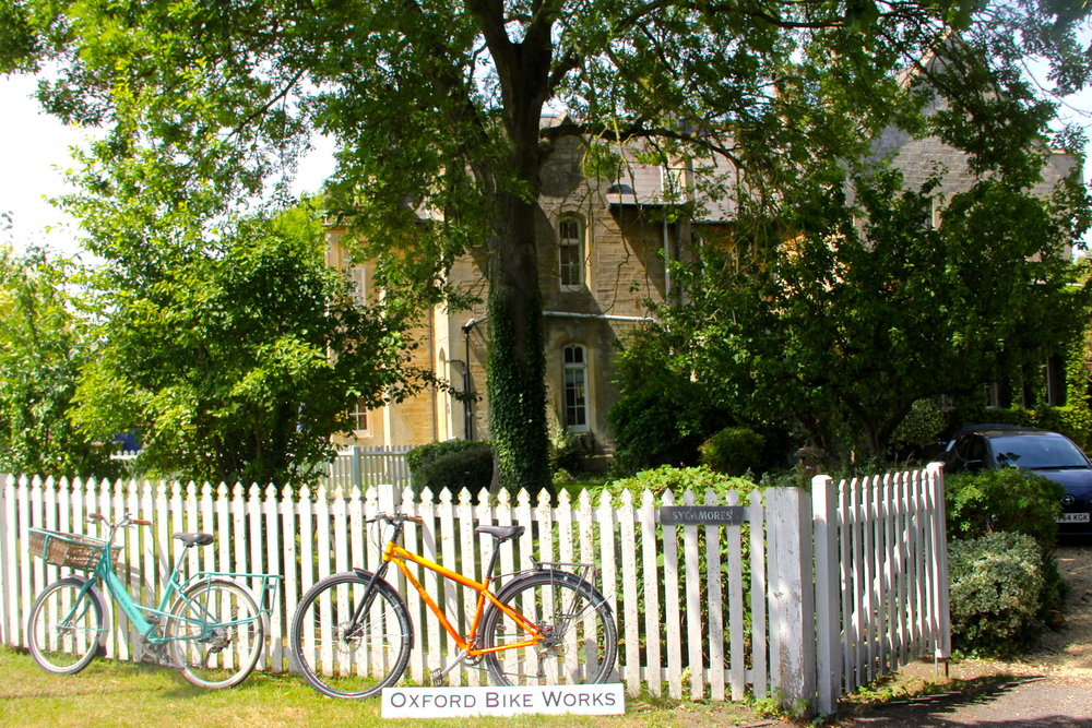 The bucolic setting of Oxford Bike Works