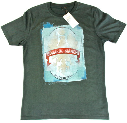 066ad0518 Bianchi Head Badge T-Shirt Dark Grey/Green - Shop - Ride Velo