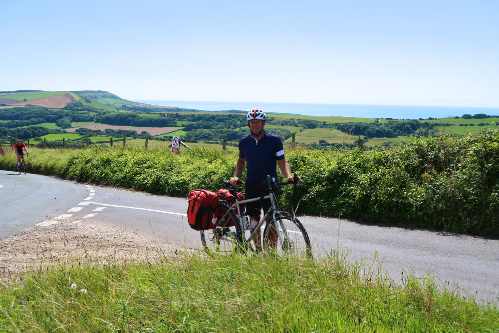 At the top of another Dorset climb