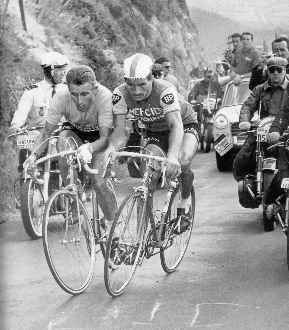 Anquetil and his rival Poulidor