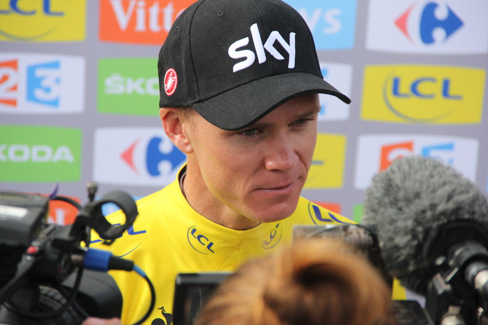 Froome at this year's Tour de france