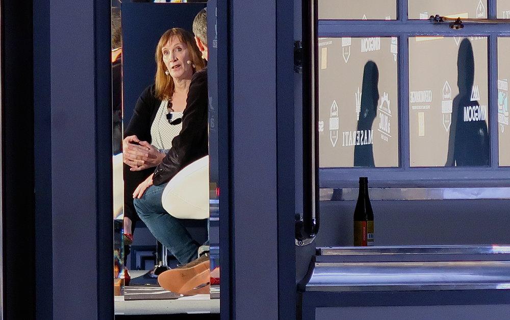 Pippa York in reflective mood