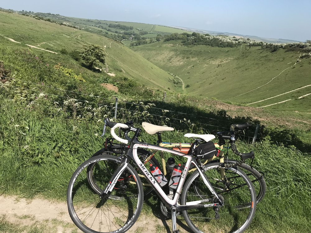 One of our last rides together up Devil's Dyke