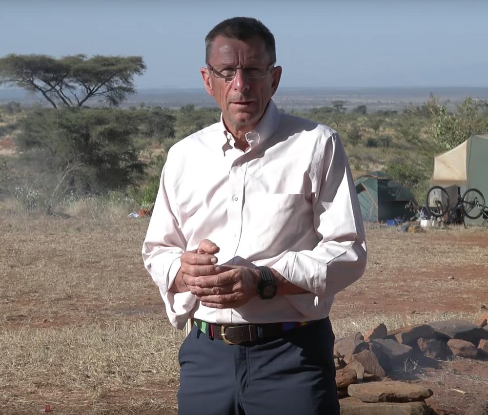 Filming in his beloved Africa