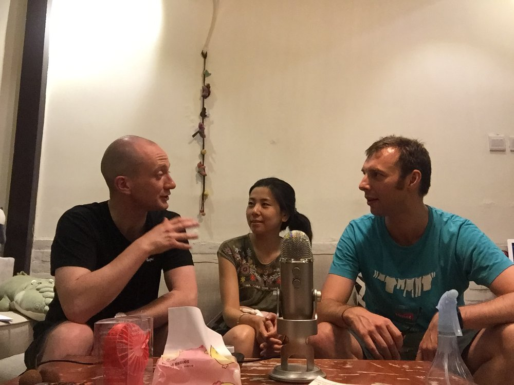 Us with Dave Mid-podcast