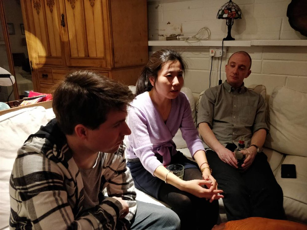 L-R: Simon Galloway, Tracy Yu, Dave Weller