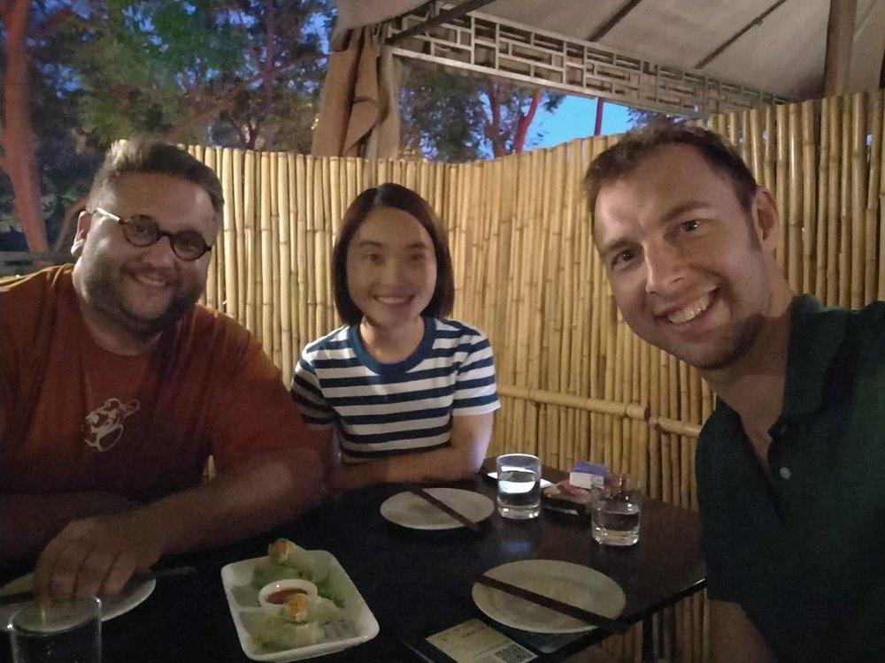L-R: Matt Courtois, Krrin Xie, Ross Thorburn