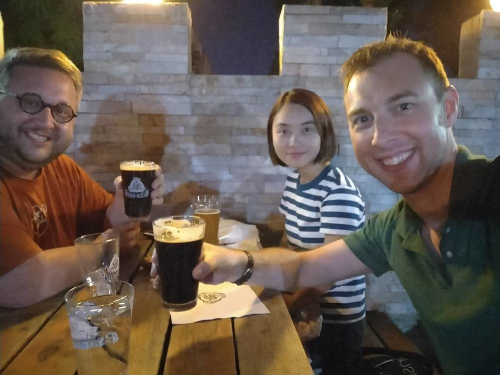 Post (or was it pre?) podcast beers with Karin Xie