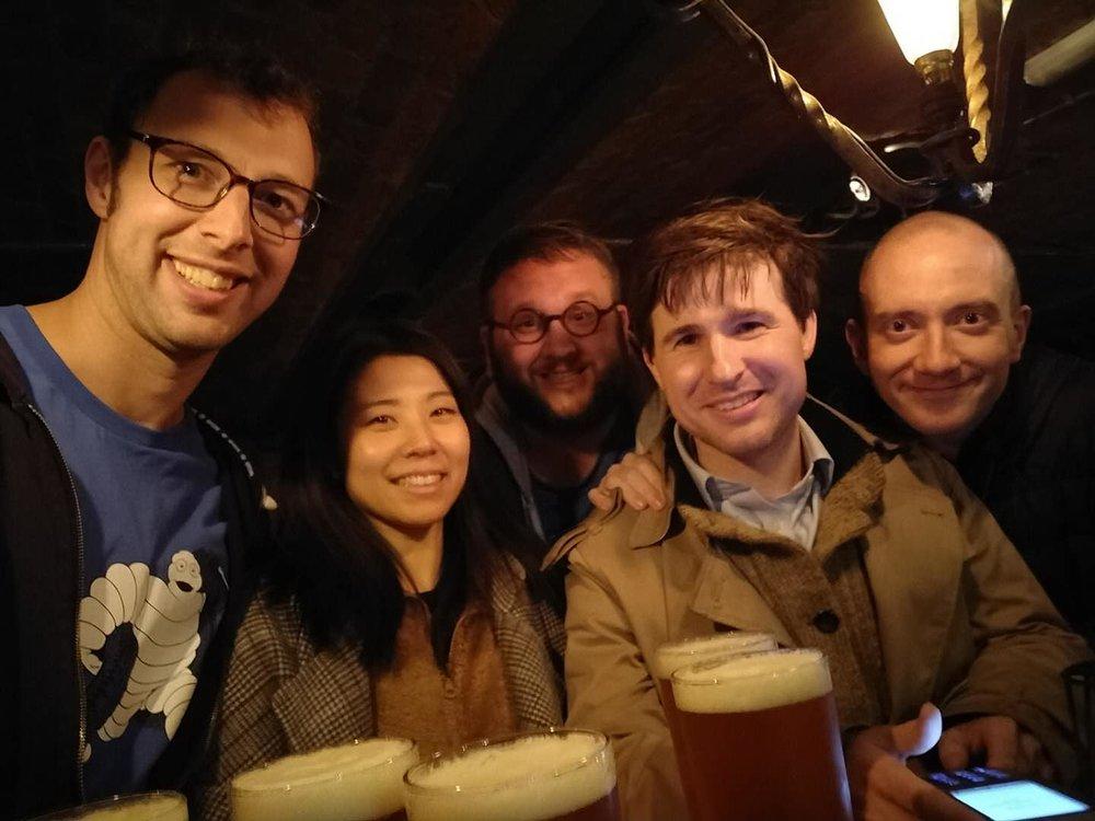 Post-IATEFL Beers with Ross, Tracy, Matt, Simon & Dave