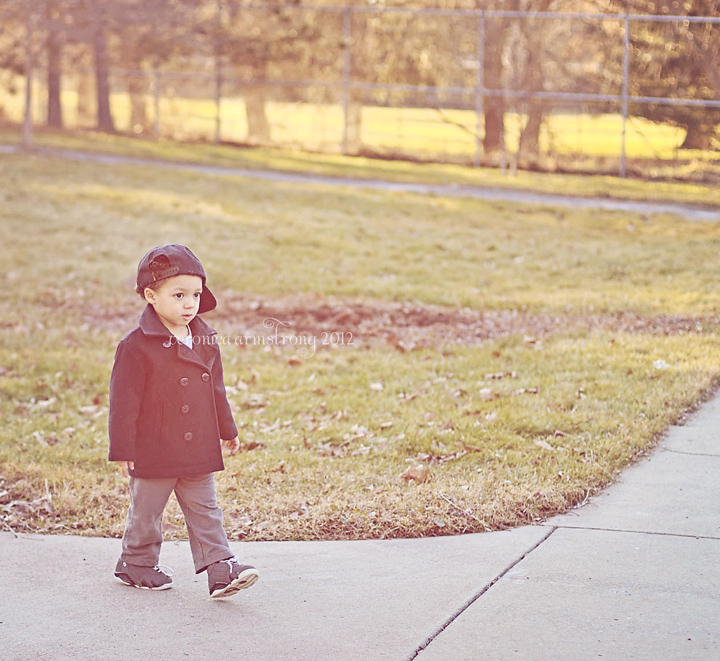 toddler hazy winter