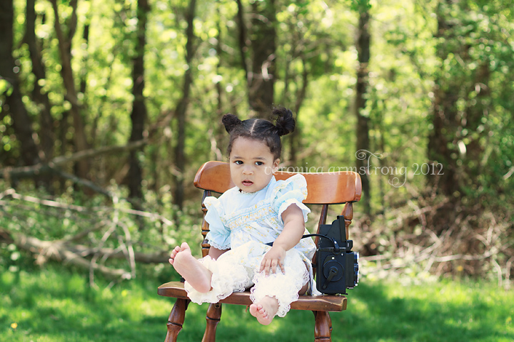 vintage style photoshoot toddler girl