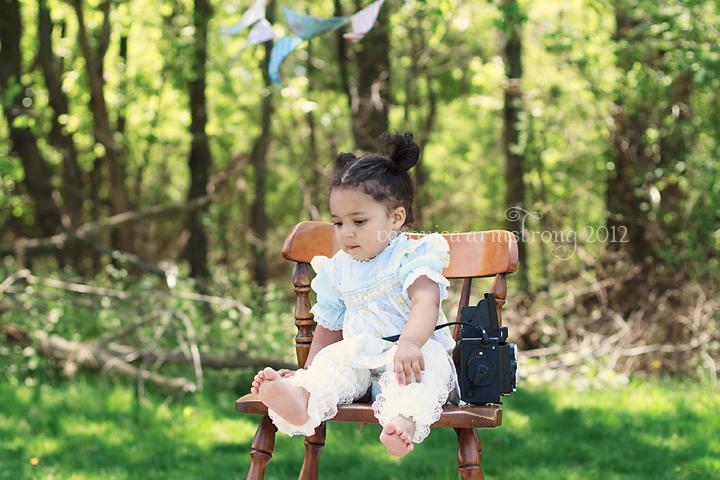 vintage photoshoot toddler girl
