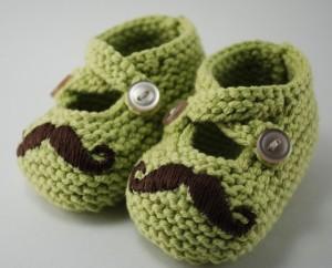 Mustache Baby Booties Etsy