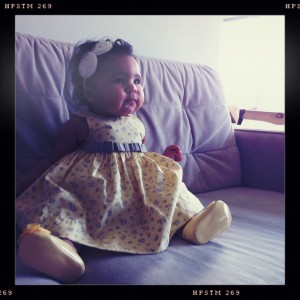 baby yellow dress iv
