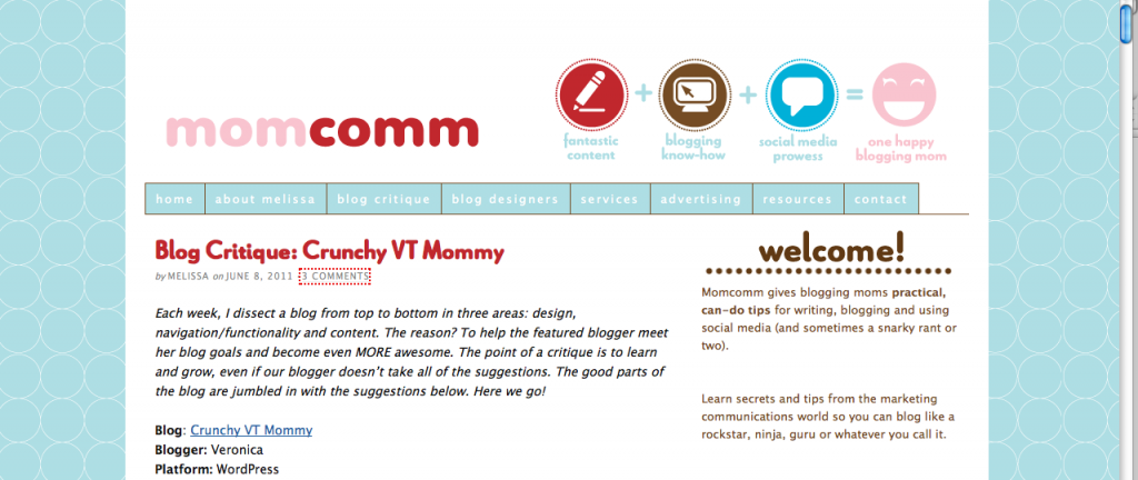 momcomm screenshot