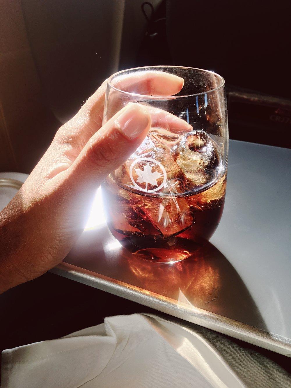 Airplane soda is a simple joy.