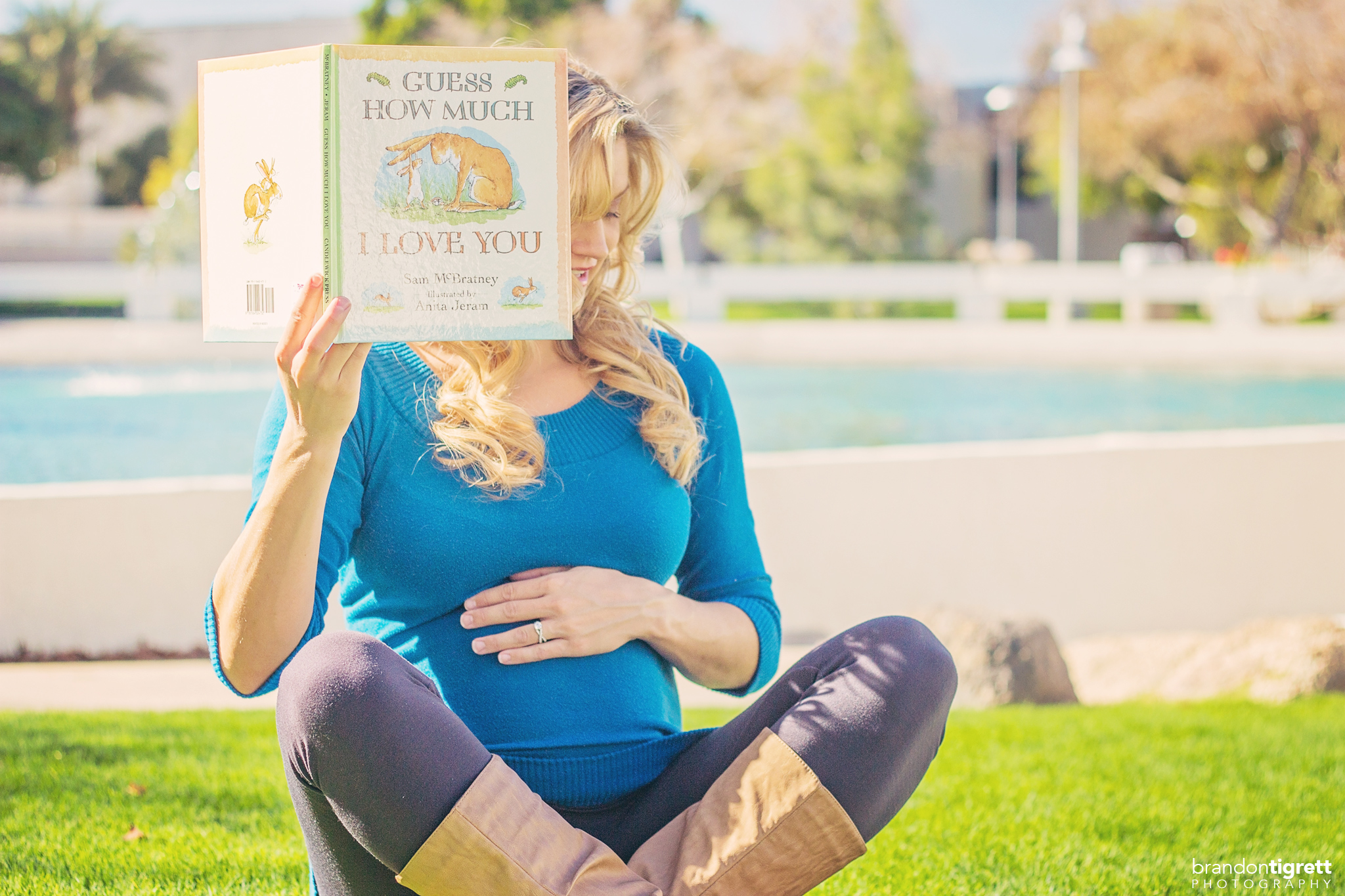 Maternity Reading Book Photo