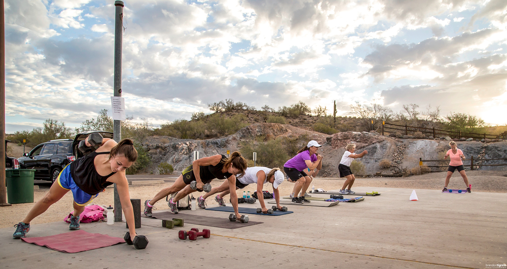 Push up Dumbbell Row - Phoenix Adventure Bootcamp