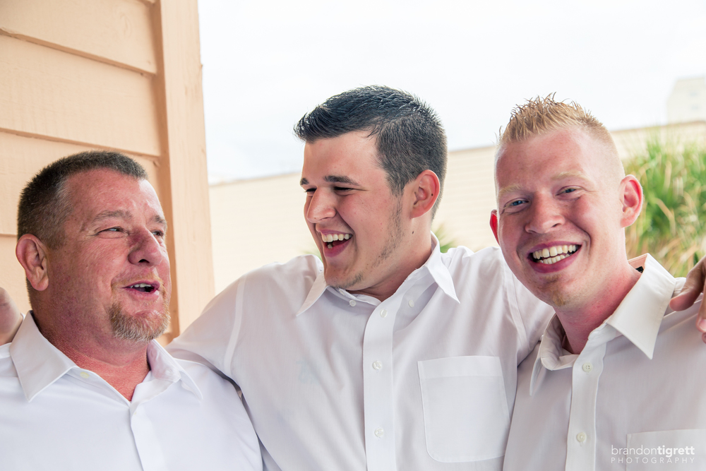 Beach Wedding  Groomsmen Getting Ready Photos