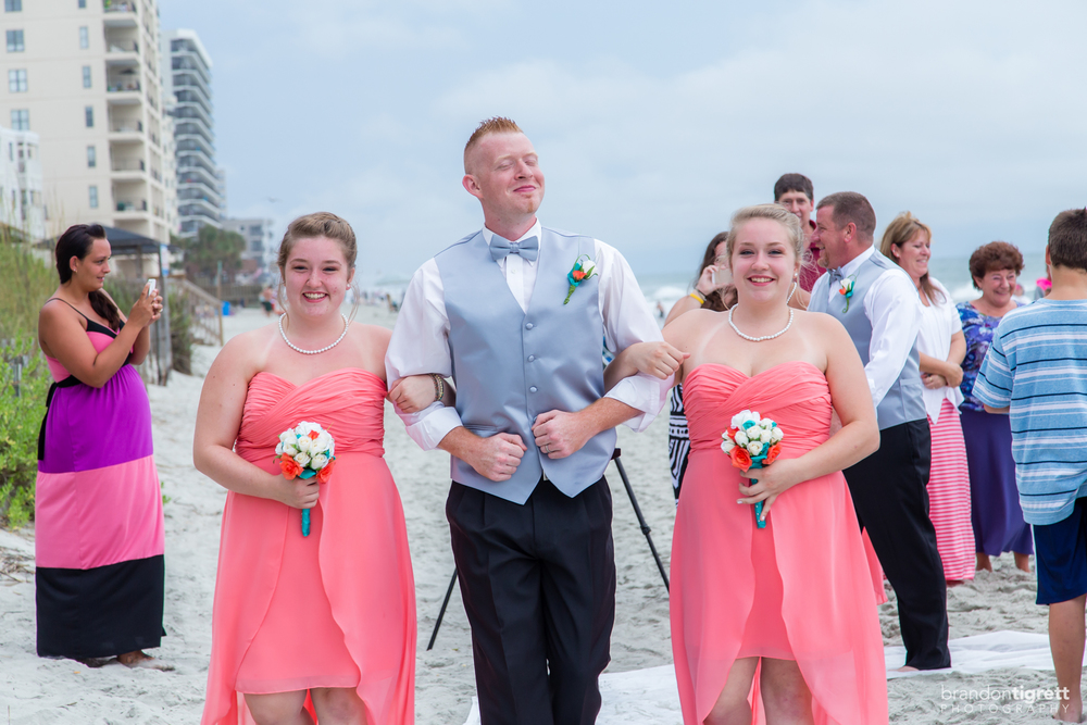 Beach Wedding Bridesmaids and Groomsmen
