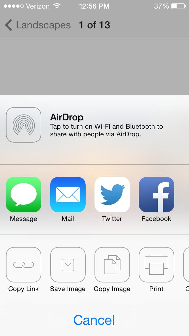 Dropbox iphone app photos