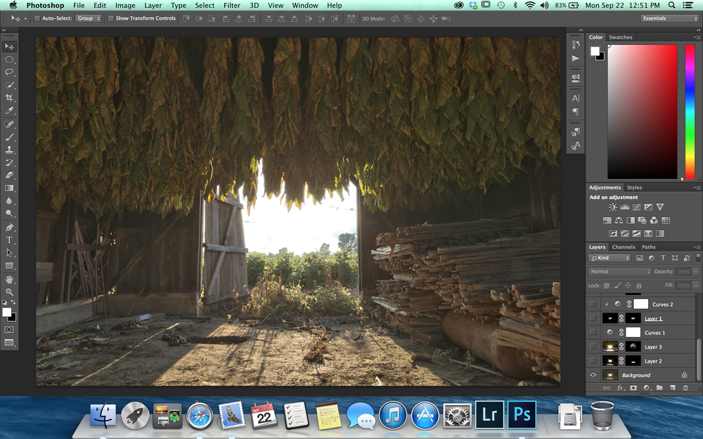 Tobacco Barn HDR beginning