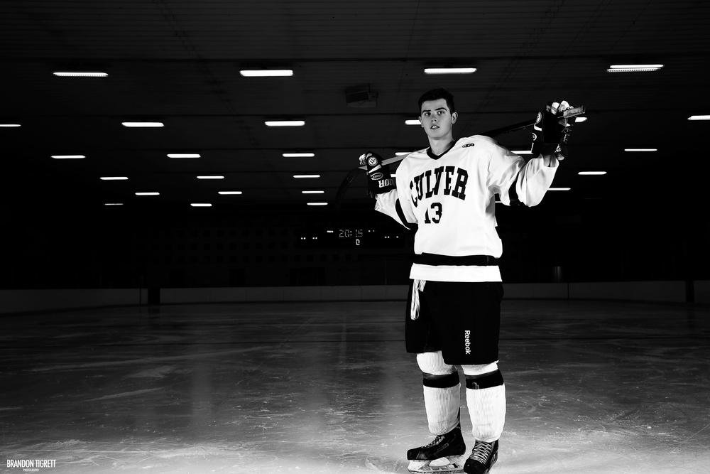Ice Hockey Action Portrait - Culver Academy