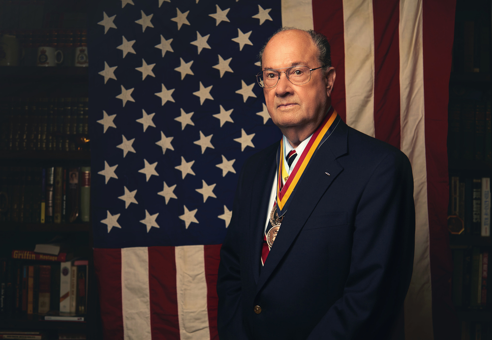 Silver Star Medal winner Jim Morris Portrait