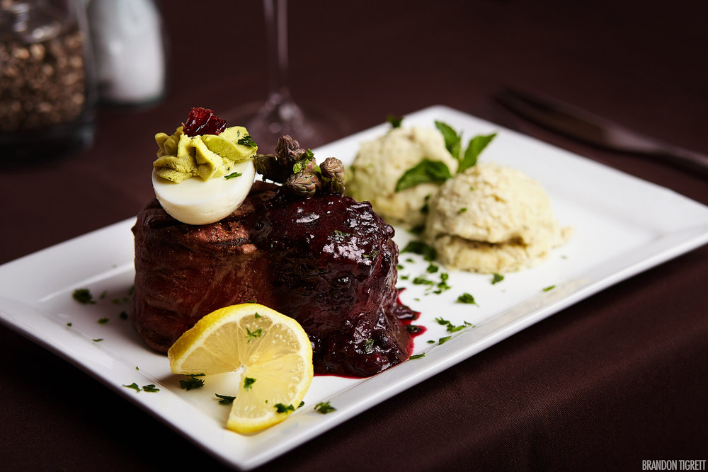 Bourbon Cellar - Editorial Food Photography - Filet Mignon