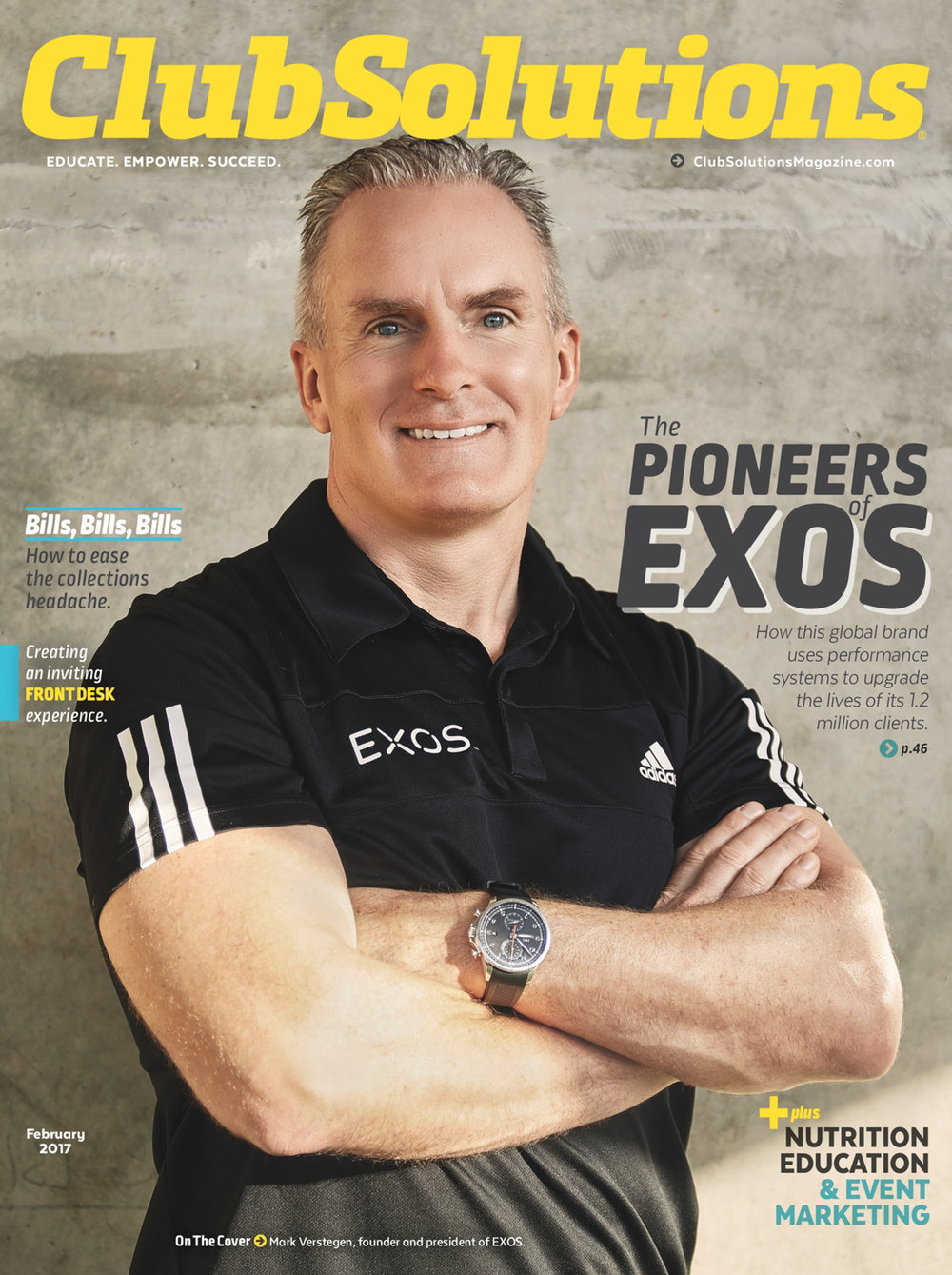 Club Solutions Magazine Cover Photo - EXOS Mark Verstegen