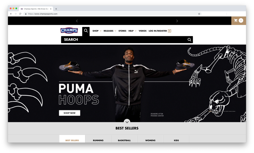 Champs Sports - Puma Hoops - DeAndre Ayton - Phoenix Commercial Photographer