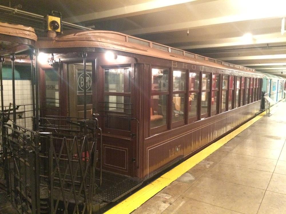 Jeden z vozů nadzemní dráhy dochovaný v muzeu MTA v New Yorku. (foto: Libor Hinčica)