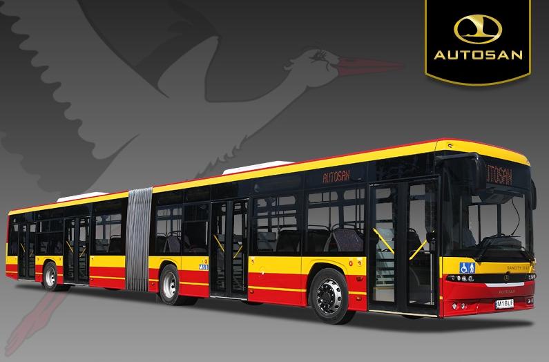 100% nízkopodlažní autobus Autosan SANCITY 18 M. (zdroj: Autosan.pl)