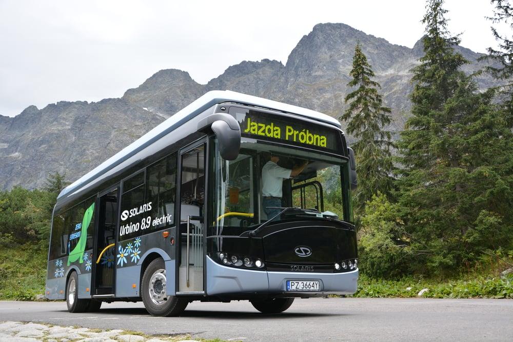 Ilustrační snímek nám prezentuje vůz Solaris Urbino 8,9 LE ve verzi electric. Do Zakopaneho však zamíří vozy s dieselovým pohonem. (foto: Solaris Bus & Coach)
