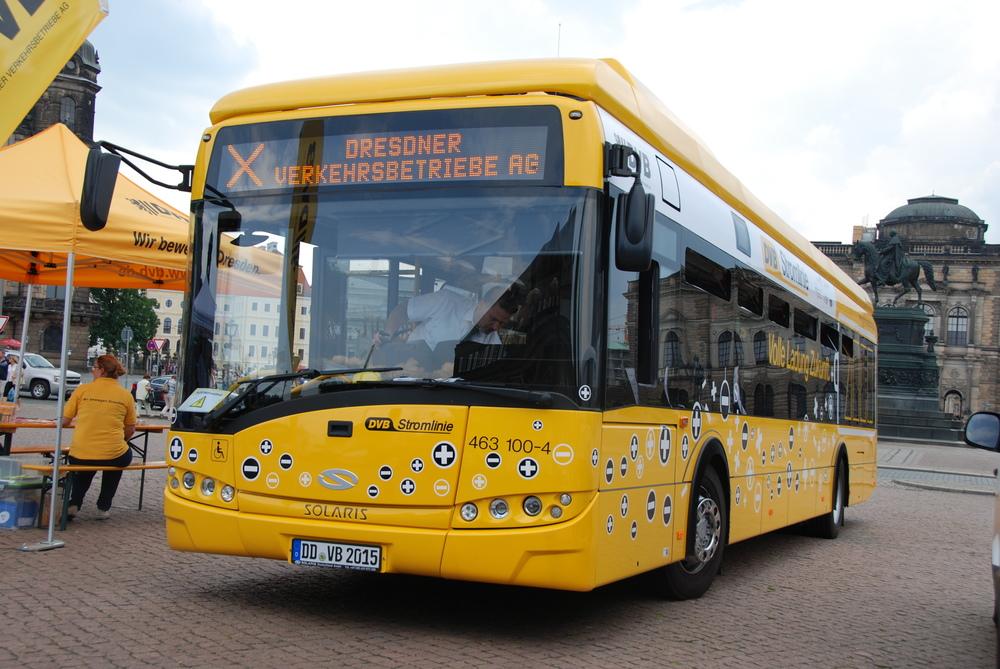 Drážďany mají zatím k dispozici jen jediný elektrobus. (foto: Libor Hinčica)