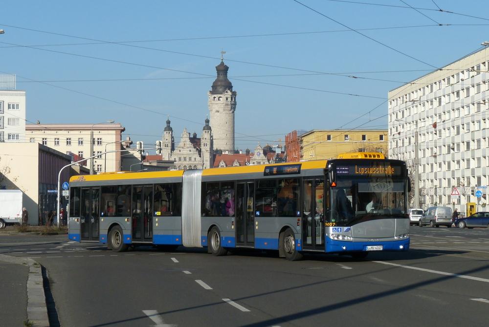 Lipsko toužilo po náhradě autobusových linek klasickými trolejbusy. Nyní sleduje záměr vybudování trolejového vedení alespoň na 50 % trasy elektrobusů, aby bylo možné získat pro projekt potřebné dotace. (foto: Sebastian Naumann)
