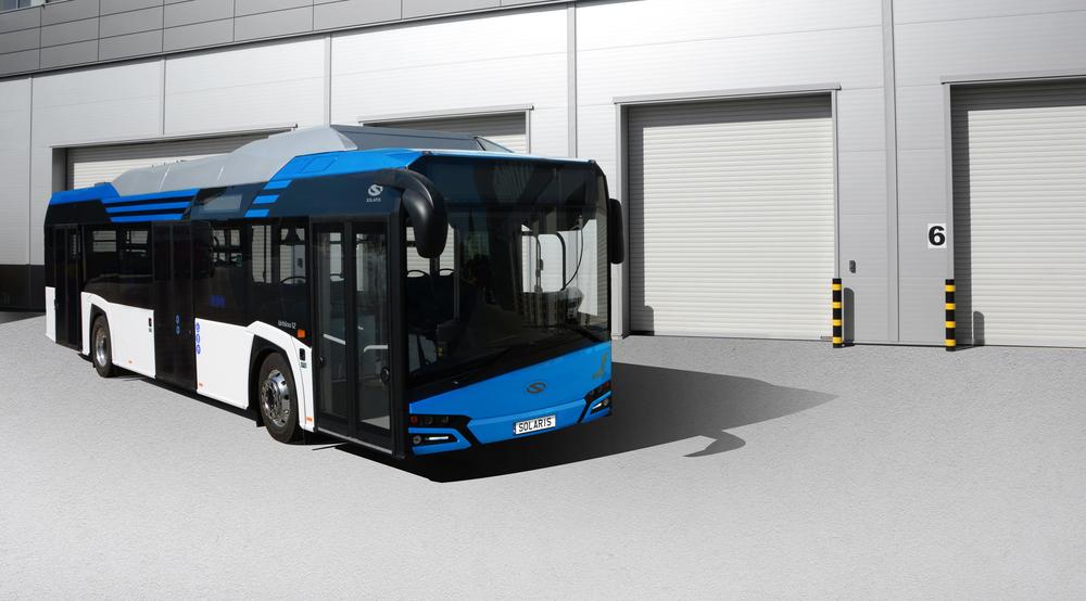 Autobus Solaris Urbino 12 electric na propagačním snímku výrobce. (foto: Solaris Bus & Coach)